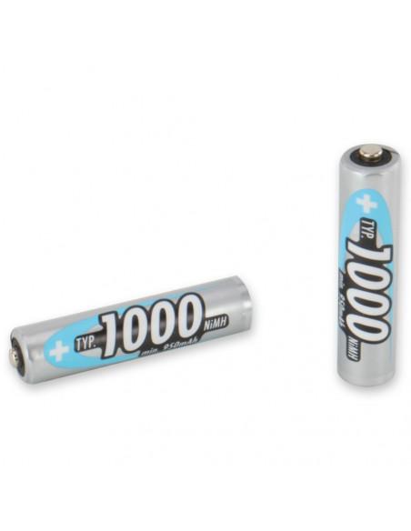 Lot de 4 batteries (accumulateurs) rechargeables AAA LR03 ANSMANN 1000 MaH