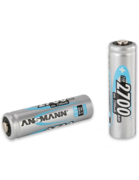 Lot de 4 batteries (accumulateurs) rechargeables AA LR06 2700 mAh Ansmann