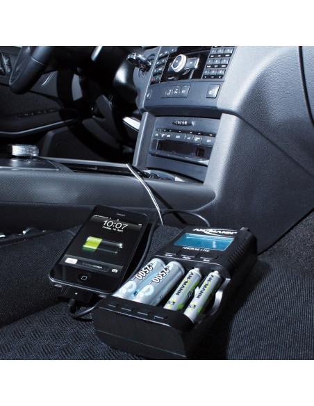 Chargeur compact terrain Ansmann Powerline 4 Pro écran LCD - Pour batteries AA,AAA