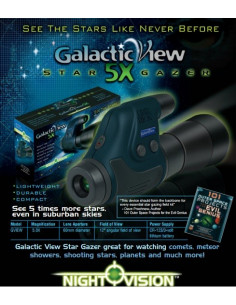 Monoculaire Night Owl Optics Galactic View Star Gazer 60mm - Grossissement X5
