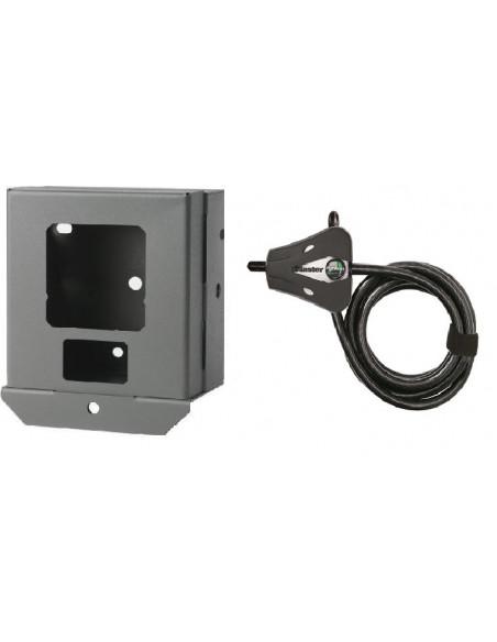 Boitier de protection et câble antivol pour piège photo Hyperfire Reconyx (dont HC600)