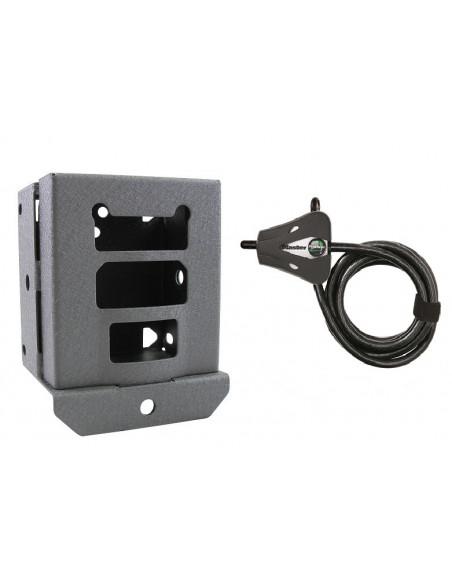 Boitier de protection et câble antivol pour piège photo-vidéo Ultrafire Reconyx (dont XR6)