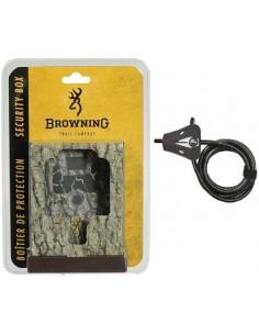 Boitier de protection compatible avec tous les pièges photos Browning (sauf modèle Defender) - Avec câble antivol