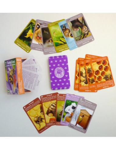 Jeu nature Betula 7 familles - Le monde des abeilles