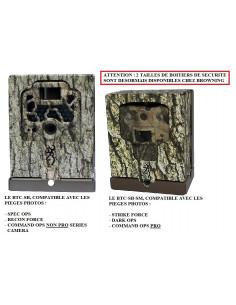 Boitier de sécurité BTC-SB-SM pour pièges photos Browning (Strike Force - Dark et Command Ops Series) - Avec câble antivol