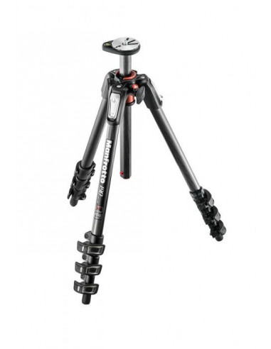 Kit trépied Manfrotto - 4 sections en fibre de carbone
