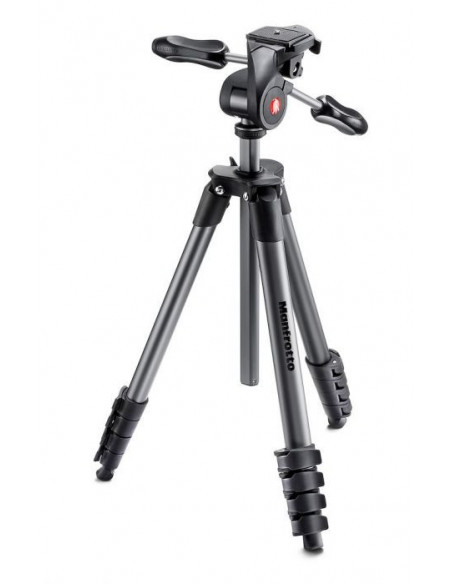 Trépied compact et rotule Manfrotto - 5 sections en aluminium