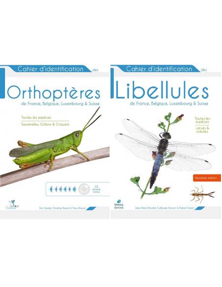 Pack cahier d'identification des orthoptères et cahier d'identification des libellules de France, Belgique, Luxembourg et Suisse