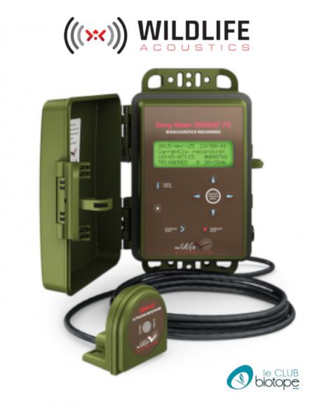 Enregistreur d'ultrasons SM4BAT Full Spectrum (FS) Wildlife Acoustics - Livré avec un micro SMM-U2 et un câble de 5M