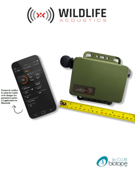 Song Meter Mini (enregistrement audible) Wildlife acoustics