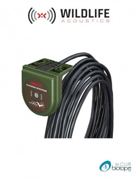 Microphone à ultrasons Willdife Acoustics SMM-U2 pour SM3BAT et SM4BAT + câble de 5M