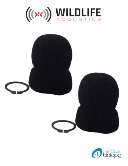 Set of 2 Replacement foam for smx-us microphone SM2 Wildlife