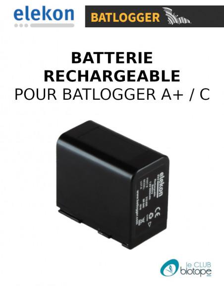 Batterie Elekon rechargeable Li-Ion 7.2V 6900 mAh pour Batlogger A+ et C