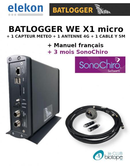 BATLOGGER WE X1 MICROPHONES + 3 MONTHS SONOCHIRO SUBSCRIPTION