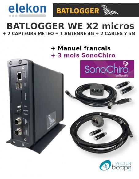 BATLOGGER WE X2 MICROS + 3 MOIS ABONNEMENT SONOCHIRO