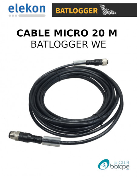 CABLE 20 M POUR MICRO BATLOGGER WE