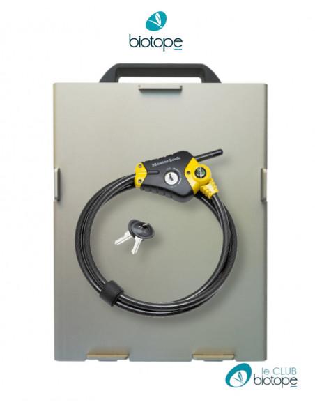 Boitier de protection et câble de sécurité antivol pour SM4BAT Wildlife Acoustics