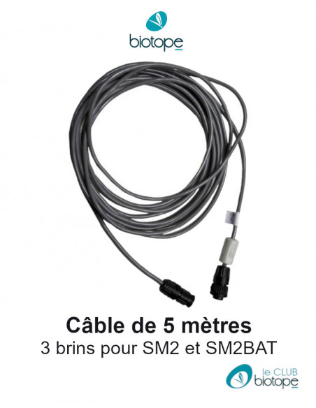 5 meters shielded cable for microphone SM2BAT / SM2 Wildlife