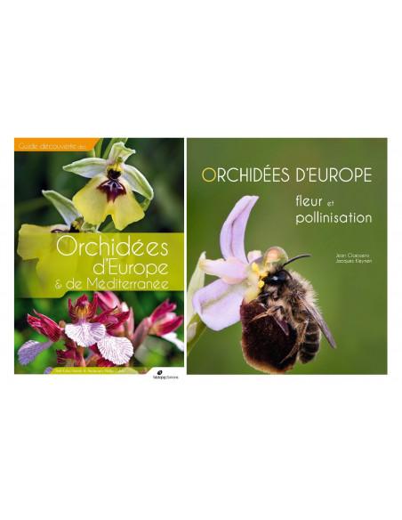 Pack Orchidées d'Europe & de Méditerranée et Orchidées d'Europe - Fleurs et Pollinisation