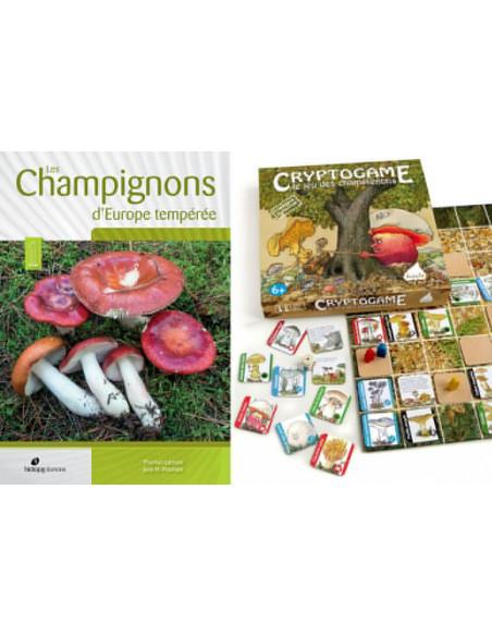 Pack livre Champignons d'Europe tempérée + jeu Cryptogamme - Le jeu des champignons