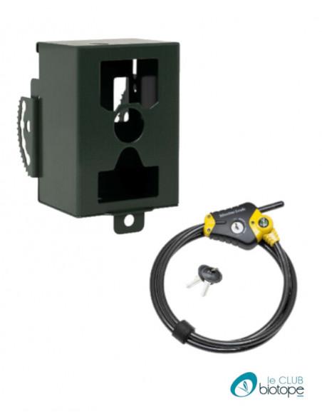Boitier de protection et câble antivol pour piège photo-vidéo HC-810A