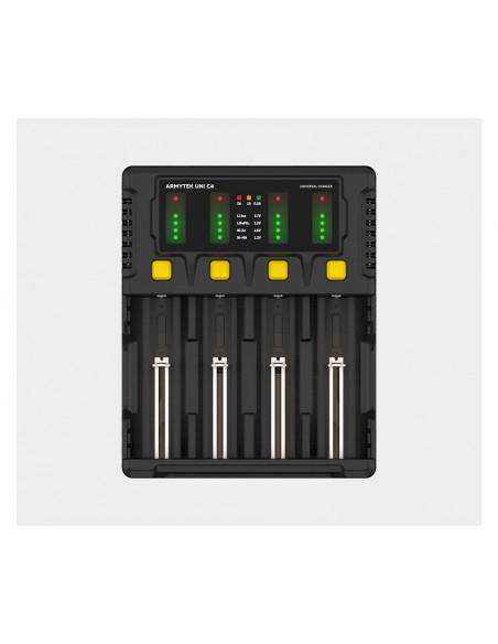 Chargeur Armytek Uni C4 Plug Type C - IMR/Li-Ion, Ni-MH, Ni-Cd, LiFePO4, Ni-Zn (18650, AA...)