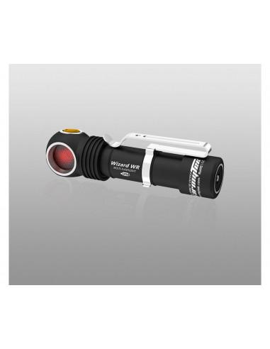 Lampe torche frontale Armytek Wizard Magnet USB / WR (Warm) - Accu 18650 3200 mAh inclus + chargeur USB