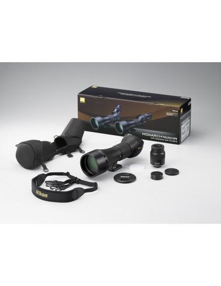 Longue vue Nikon Monarch 82ED-A avec oculaire MEP 20-60 et étui inclus
