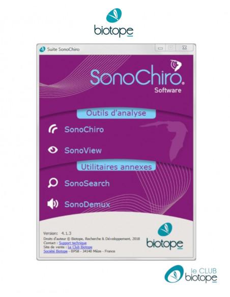 SonoChiro Universitaire - Logiciel de traitement automatique d'enregistrements d'ultrasons de chauves-souris