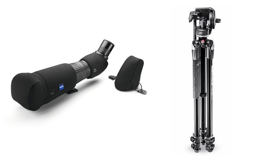 Housse Zeiss Harpia Victory 85 + trepied Manfrotto